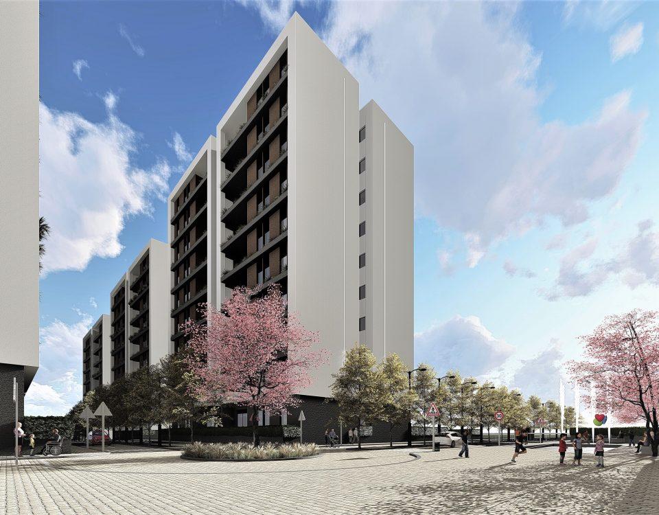 Argelia-Grafeno-arquitectura-proyecto-volumen-blanco-hormigón-madera-viviendas